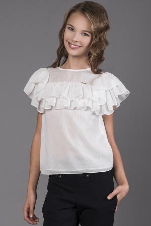 56a59414458 Блуза для девочки Noble People (Россия) Белый