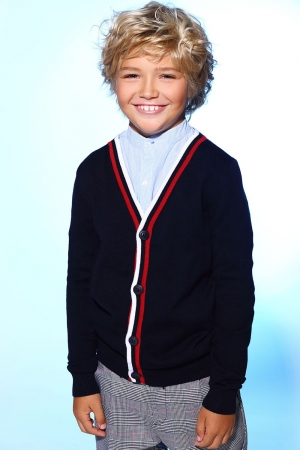 Кардиган для мальчика Noble People (Россия) Синий